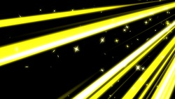A colorful line of speedy and star yellow background loops