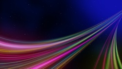 Universe and colorful lines