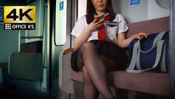 【4K animation】 Uniform beautiful girl train panchira mini skirt puffy looking into the back of beautiful legs you want to pull out pureness thoroughly on the full screen To you Yuu Yu