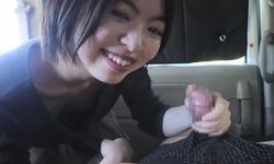 欅 ○ 46 Hirate Otomo ○ Nana's Makoto Kawahara gets in the cabin blowjob in the mouth