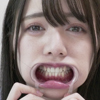 [Tooth/mouth] Popular actress Asahi Shizuku Chan's teeth, throat and tongue tongue observation! Masturbation video included! !! !!