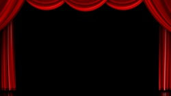 Red image of the stage curtain, curtain