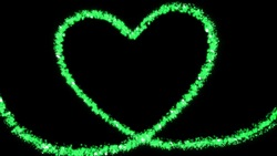 Sparkly green heart