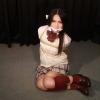 Namie Hatanaka - Bound and Gagged in Burgundy High Socks - Full Movie